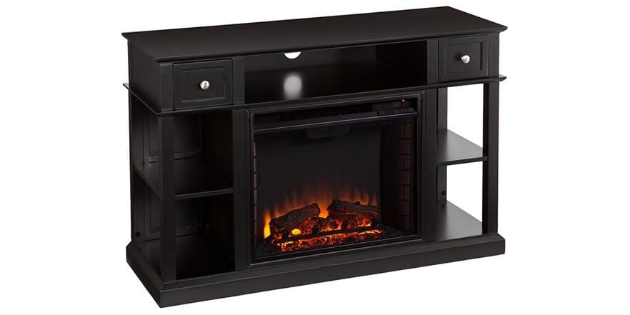 Dayton Media Fireplace Black