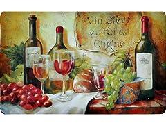Fashion Comfort Kitchen Mat - Wine Table