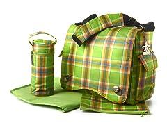Kalencom Diaper Bag - Green Plaid