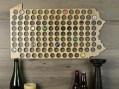 Beer Cap Map:Pennsylvania