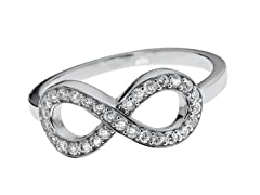 Sterling Silver and CZ Infinity Ring