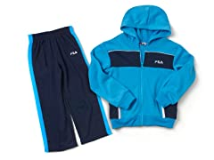 Blue/Navy Fleece Set