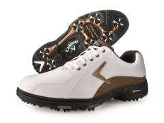 XTT LT Saddle Golf Shoes, White/Tan