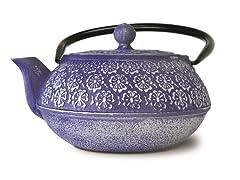 40 Ounce Cast Iron Teapot- Blue