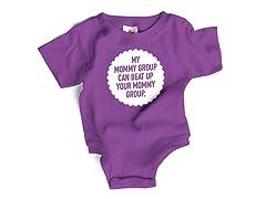 "Wrybaby ""Mommy Beat up"" Purple Bodysuit"