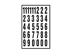 Hy-Ko 2 in Self-Stick Numbers