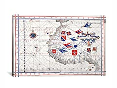 Nautical Map ca 1571 26x18