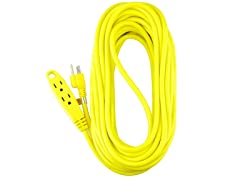 50-Feet 3 Outlet Heavy Duty Extension Cord, 2-Pack