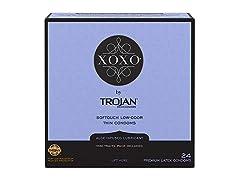 Trojan XOXO Thin Softouch Lubricated Latex Condoms