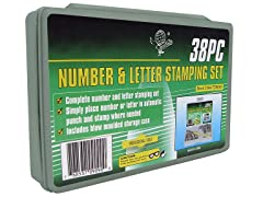 38 Piece Deluxe Number & Letter Stamp