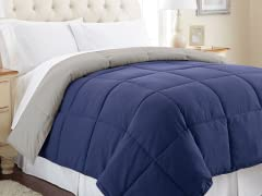 Down Alt. Comforter - Twin - Blue/Silver