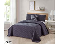 Bibb Home Solid Reversible Quilt Set