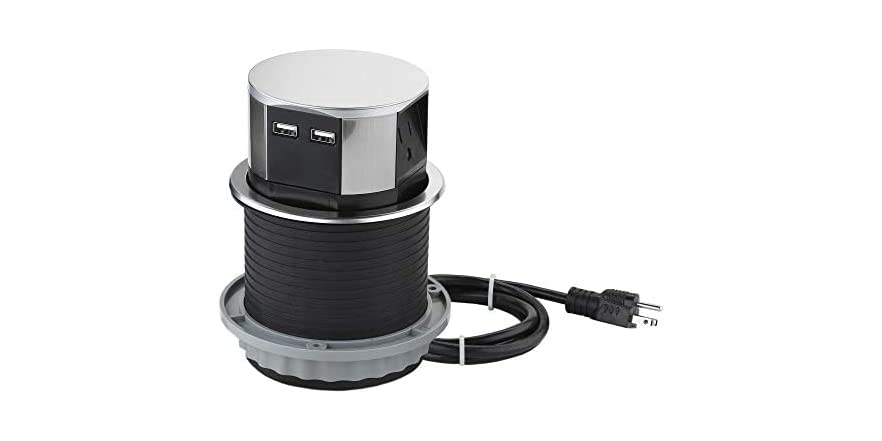 Link2Home EM-PU-100E Space Saver Pop Up Outlet with USB | WOOT