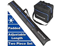 SEEHONOR Padded Ski and Boot Bag Combo