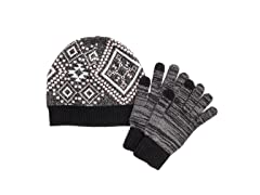 MUK LUKS Women's Beanie and Glove Set