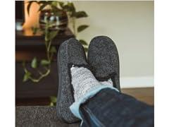 MUK LUKS Men's Faux Wool Moccasin Slippe