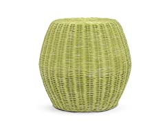 Caine Stool Low-Green Wash