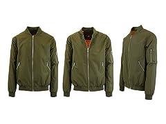 Mens Bomber Flight Jacket