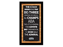 "San Antonio Spurs 9.5"" x 19"" Sign"