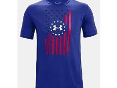 UA Men's Freedom Front Flag T-Shirt