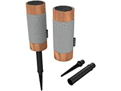 KitSound Diggit Outdoor Bluetooth Speakers (Pair)
