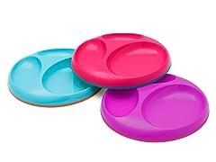 Boon Saucer Stayput Plate 3Pk - Pk Multi