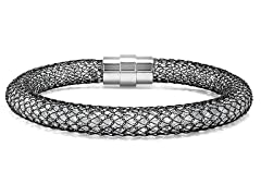 Mesh Bracelet w/ Sim. Diamonds