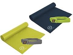 Eco-Smart Yoga Mat & Sling Strap (2 Colors)