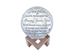 Engraved 3D Moon Lamp for Daughter
