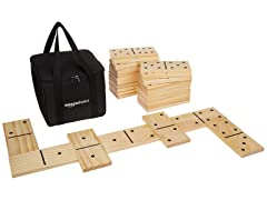 AmazonBasics Premium Wooden Domino Set