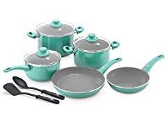 GreenPan 10-Pc Cookware Set Turquoise