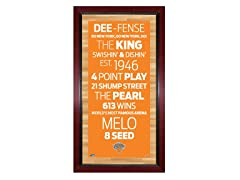 "New York Knicks 16"" x 32"" Sign"