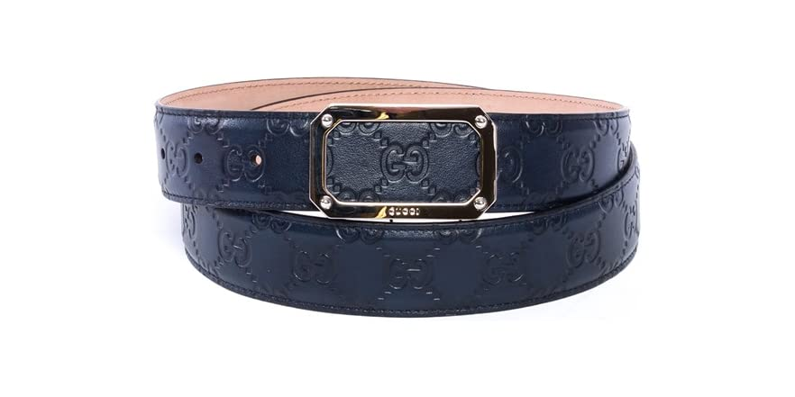 gucci navy blue belt fashion