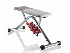 Universal Bench with Dumbbells