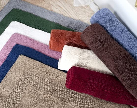 100 Cotton Reversible Long Bath Rug 24x60 12 Colors