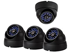 Dome CCD Security Camera Kit - 4 Pack