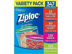Ziploc Snack Storage Bags Variety Pack