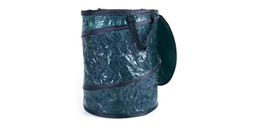 Collapsible utility garbage can with lid - Collapsible garbage can ...