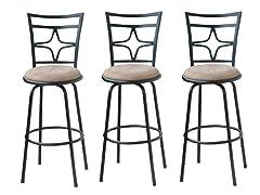 TMS Set of 3 Adjustable Height Barstools