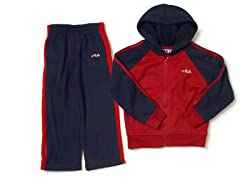 Red/Navy Fleece Set