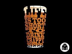 Crappy Beer Shirt Zip Hoodie