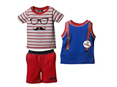 Hipster 3-Pc Short Set (2T-4T)