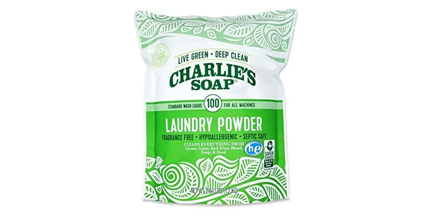 Charlie's Soap Laundry Powder (100 Loads, 1 Pack) Fragrance Free Hypoallergenic Deep Cleaning Laundry Powder | WOOT