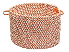 Houndstooth Storage Basket - Orange (2 Sizes)