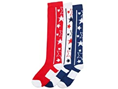 Angelina Stars Knee-High Socks (3-Pairs)
