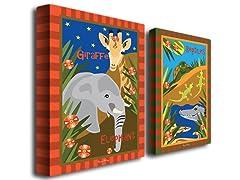 Animal Friends Canvas Art Set