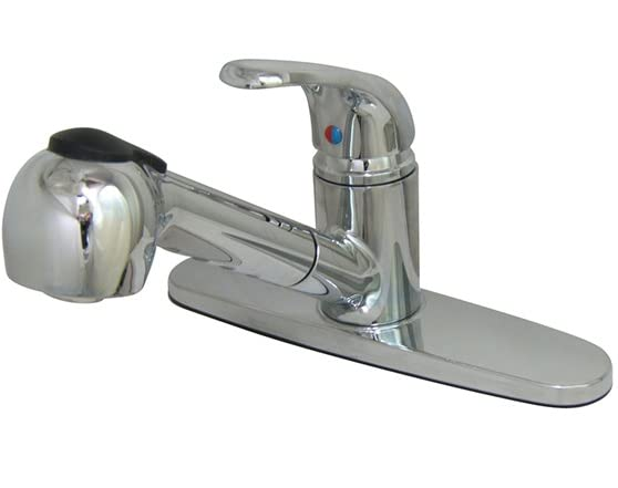 Kitchen faucet with wand chrome for Küchen wand