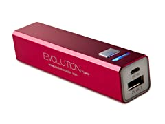 Rechargeable USB Charger - Red