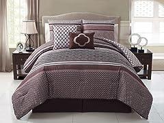 Saria 5pc Reversible Comforter Set - 2 Sizes