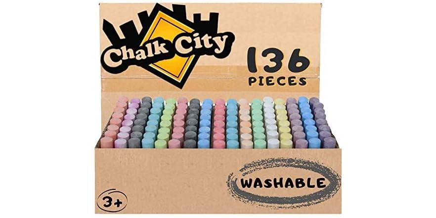 chalk city sidewalk chalk 136 count